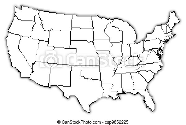 Map of the United States - csp9852225