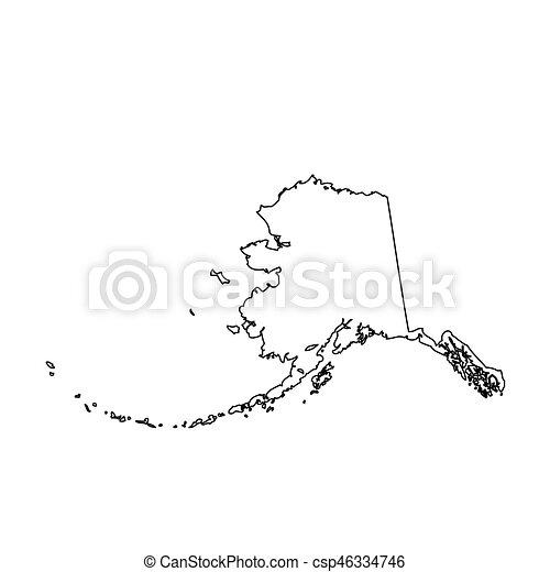 map of the u s state alaska vector
