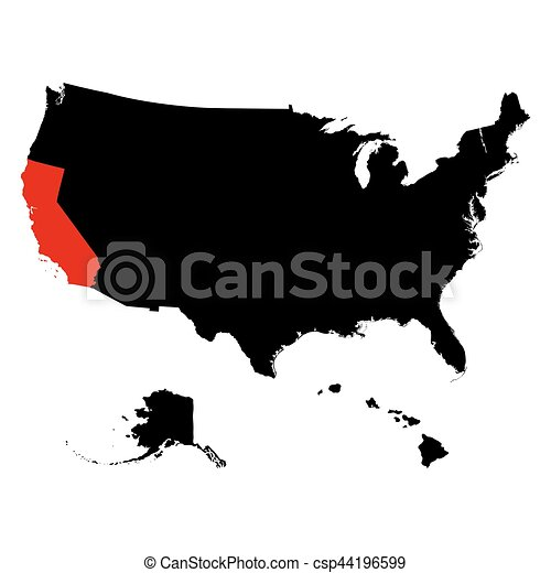 map of the u s state california vector