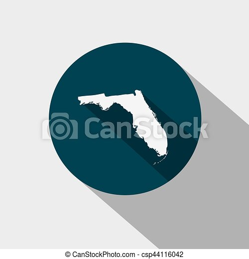 map of the u s state florida vector