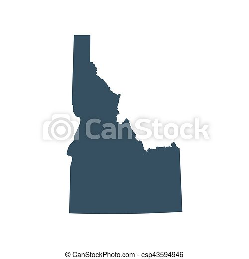 map of the u s state idaho vector