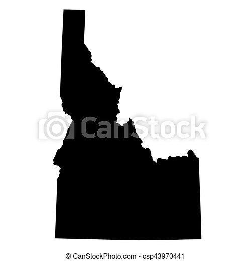 map of the u s state idaho csp43970441