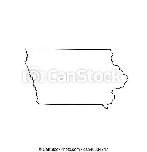 map of the u s state iowa vector