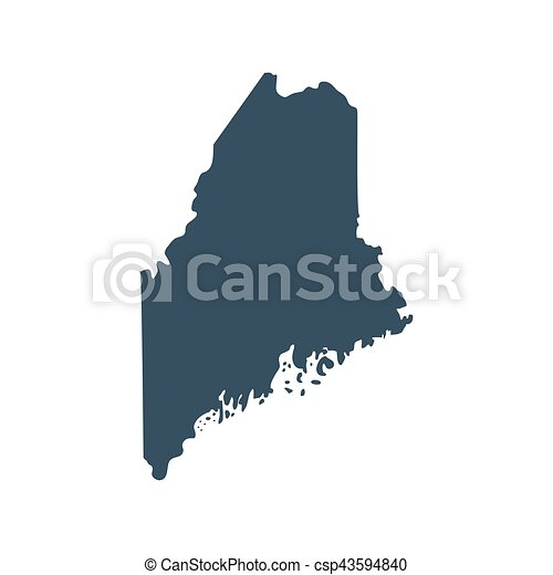 map of the u s state maine vector