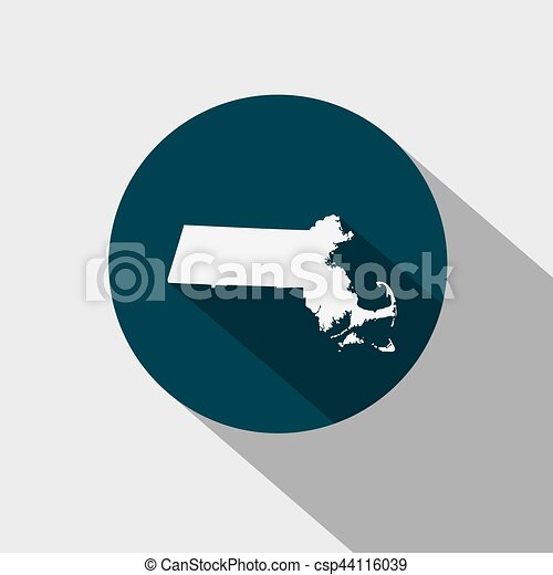 map of the u s state machusetts vector