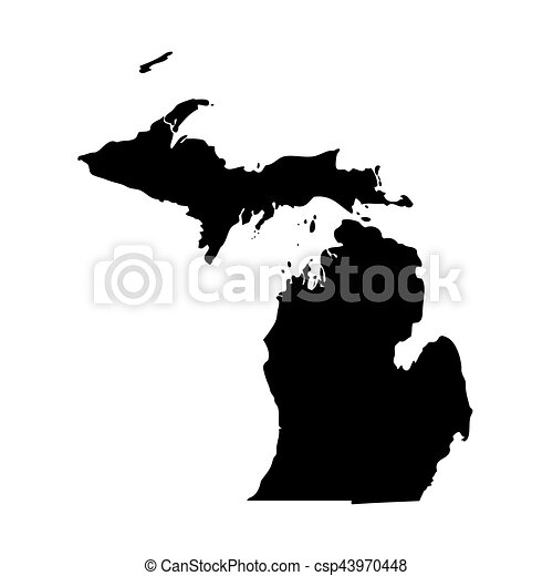 map of the u s state michigan vector