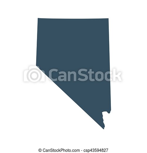 map of the u s state nevada vector