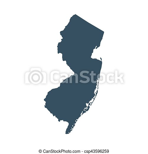 map of the u s state new jersey csp43596259