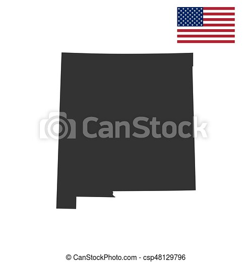 map of the u s state new mexico vector