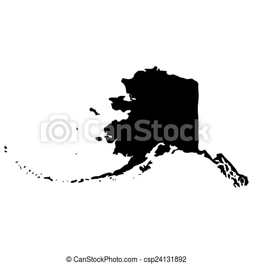 map of the u s state of alaska vector