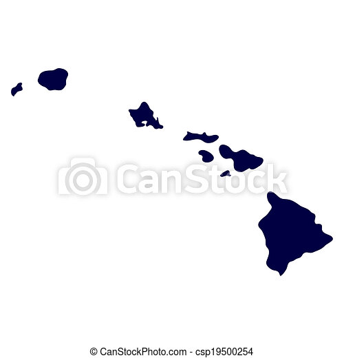 map of the u s state of hawaii csp19500254
