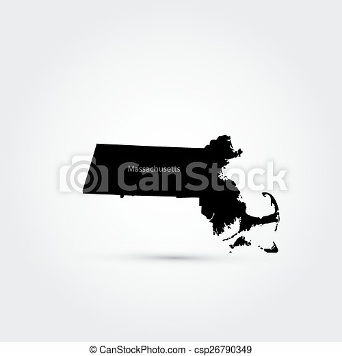 map of the u s state of machusetts vector