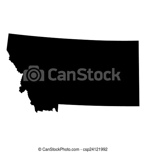 map of the u s state of montana vector