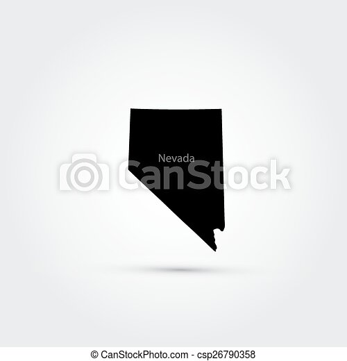 map of the u s state of nevada vector