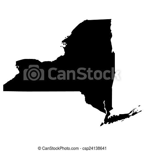 map of the u s state of new york csp24138641
