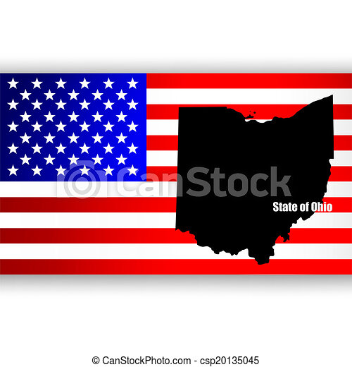map of the u s state of ohio vector
