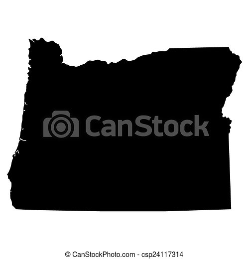 map of the u s state of oregon vector