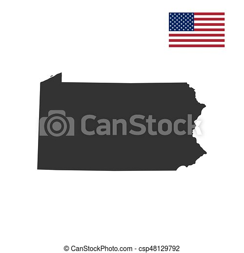 map of the u s state of pennsylvania vector