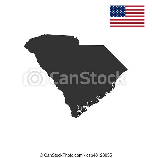 map of the u s state of south carolina vector