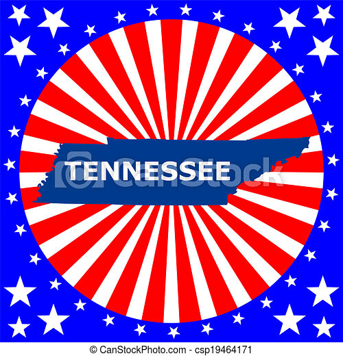 map of the U.S. state of Tennessee - csp19464171