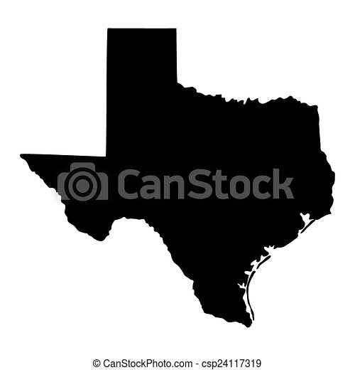 map of the U.S. state of Texas  - csp24117319