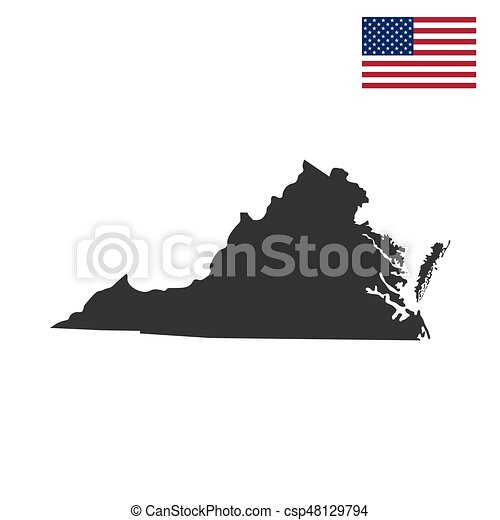 map of the u s state of virginia csp48129794
