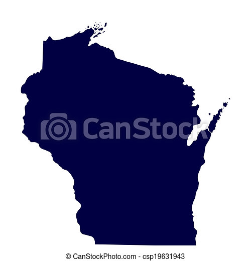 map of the u s state of wisconsin vector