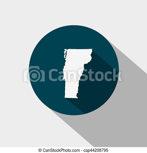 map of the u s state vermont vector