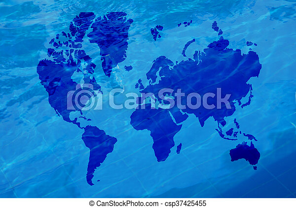 Map Of The World Clear.Map Of The World And Water