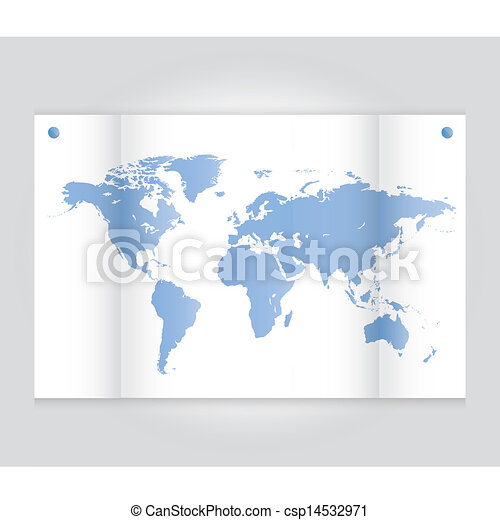 map of the world - csp14532971