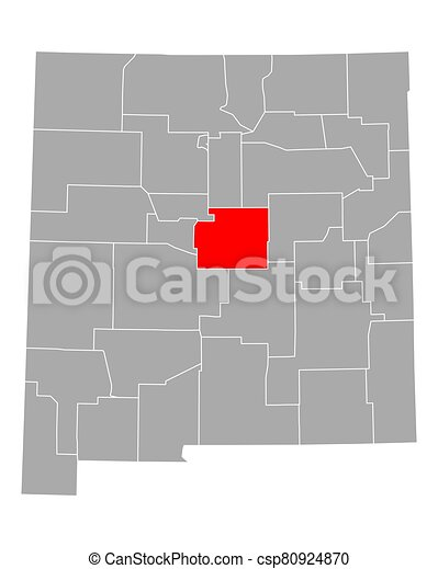 Map of Torrance in New Mexico - csp80924870