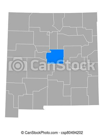 Map of Torrance in New Mexico - csp80494202