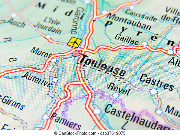 Map Of France Toulouse.Map Of Toulouse