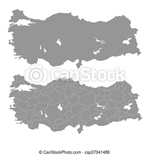 Vector illustration of the map of turkey. vector - Search Clip Art ...