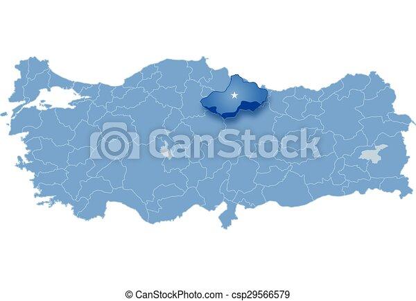 Map of turkey tokat Map of turkey where tokat province is