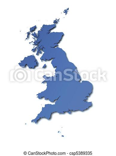 Map of UK - csp5389335