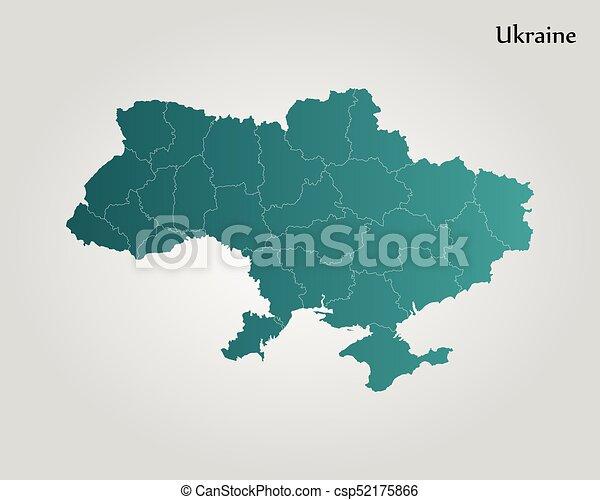 Map Of Ukraine Vector Illustration World Map