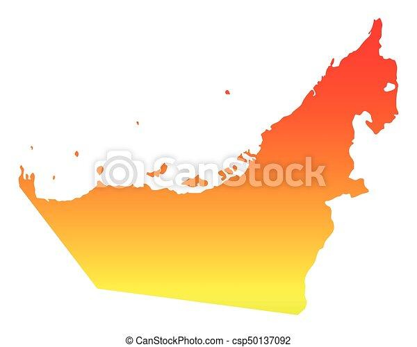 Map of United Arab Emirates - csp50137092