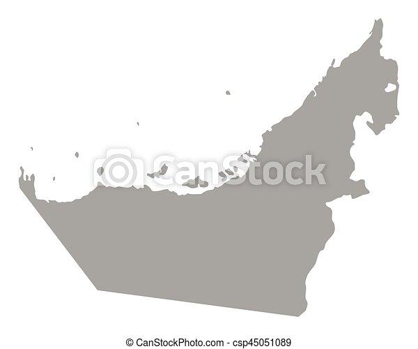 Map of United Arab Emirates - csp45051089