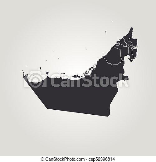 Map of united arab emirates map of united arab emirates csp52396814 gumiabroncs Images