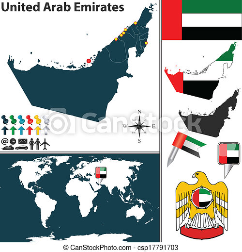Map of United Arab Emirates - csp17791703
