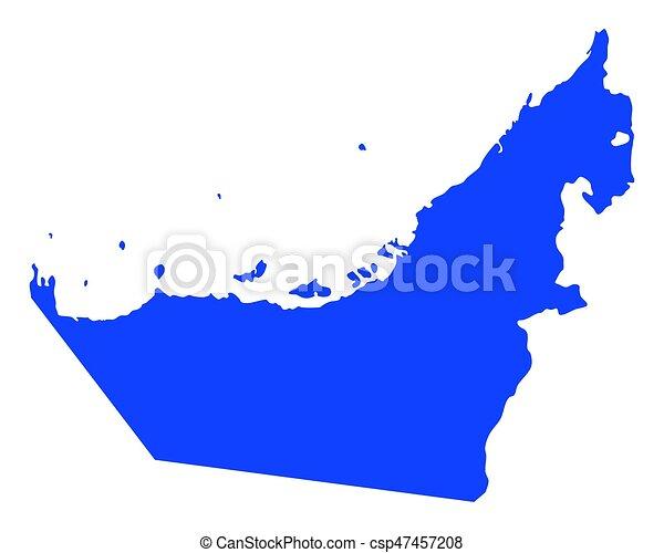 Map of United Arab Emirates - csp47457208