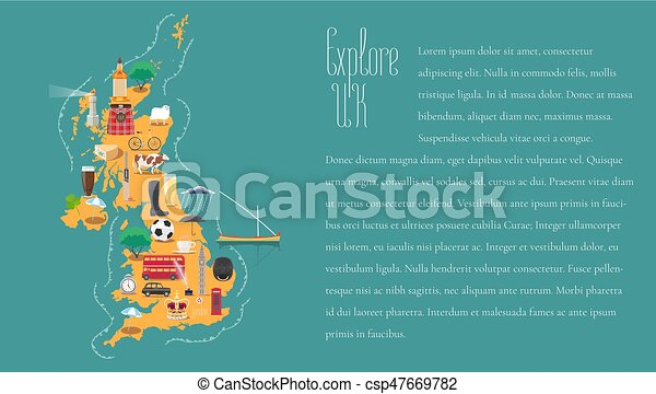 Map Of England Template.Map Of United Kingdom Great Britain England Template Vector