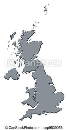 Map of United Kingdom - csp9839056