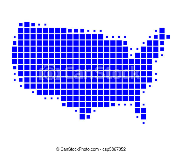 Map of United States of America - csp5867052