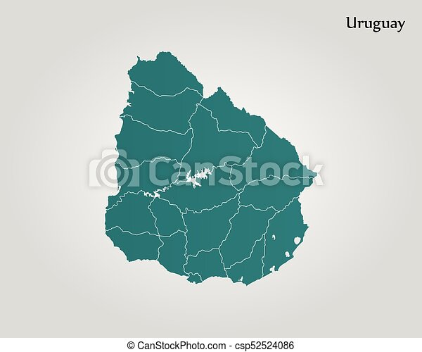 Map of uruguay vector illustration world map map of uruguay csp52524086 gumiabroncs Images