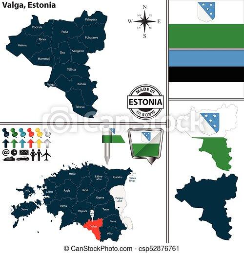 map of valga estonia csp52876761