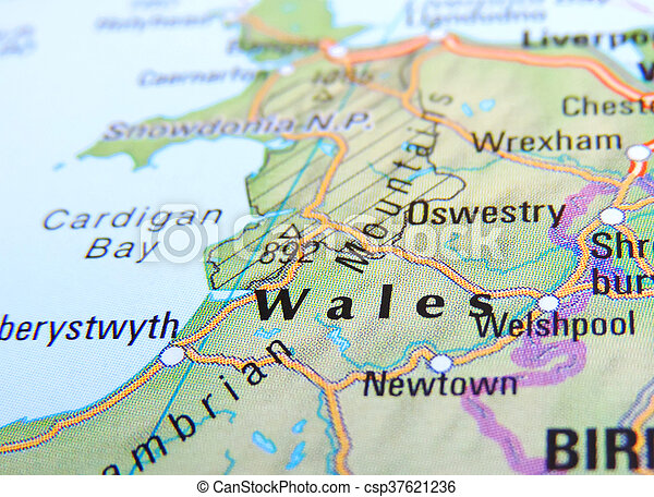 Map Of Wales England