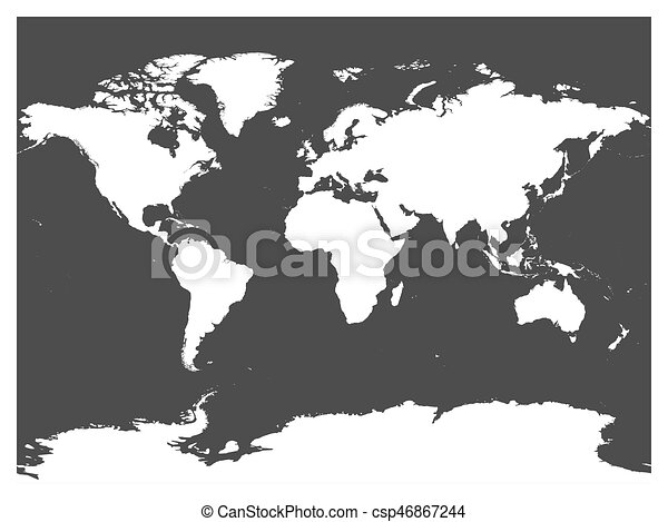 Map of world black vector silhouette white high detailed map on map of world black vector silhouette white high detailed map on dark grey background gumiabroncs Choice Image