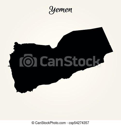 map of yemen csp54274357